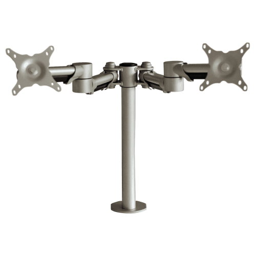 ABL Double Monitor Arm - Silver
