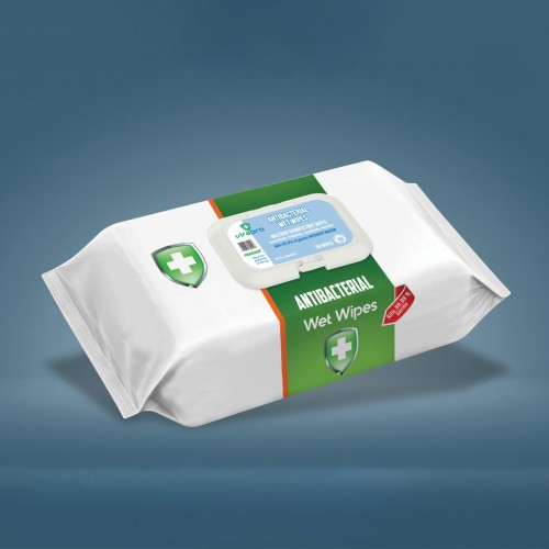 Virapro Anti-Bacterial Wipes Pk80