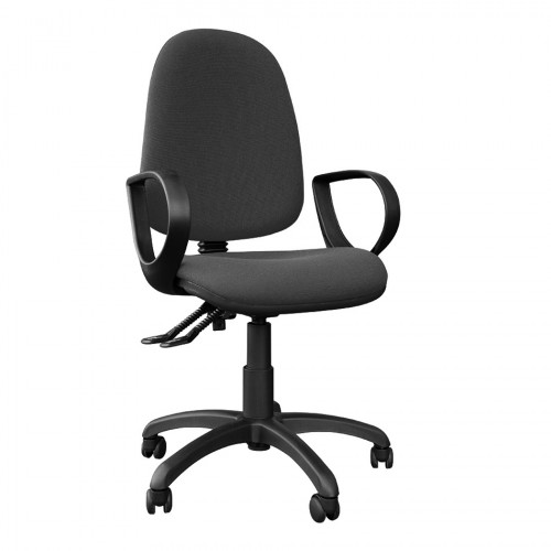 OC9 High Back Operators Chair with Arms in a Charcoal Fabric