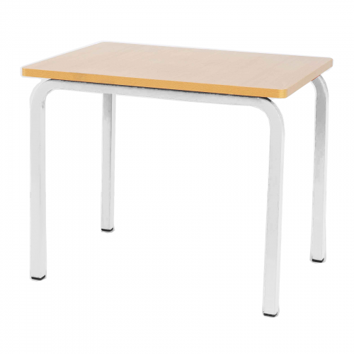 Single Student Table 600x600x500H- White Legs
