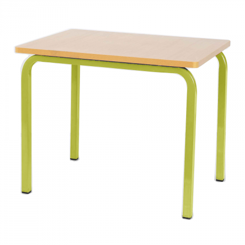 Single Student Table 600x600x550h - Yellow Legs