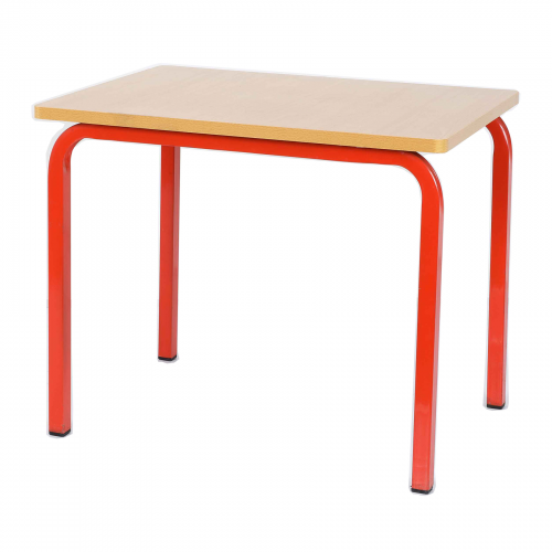 Single Student Table 600x600x600H - Red Legs