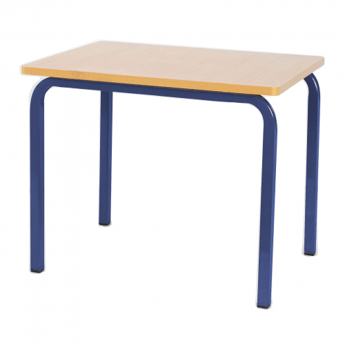 Single Student Table 600x600x600H - Blue Legs