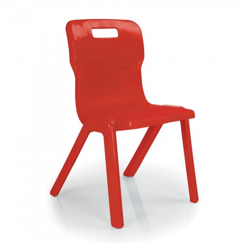 Titan All Plastic Chair 350mm - Red