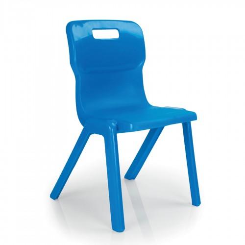 Titan All Plastic Chair 380mm - Blue