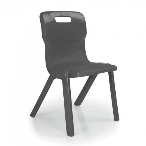 Titan All Plastic Chair 460mm - Charcoal