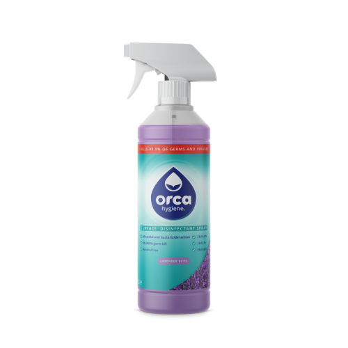 Water Based Surface  Disinfectant - 1 Litre Trigger Spray Lavender Bliss - Pack of 12