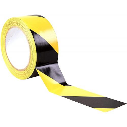*Price Drop* Printed Hazard Floor tape 48mm x 33m - Pack 6 - IN STOCK