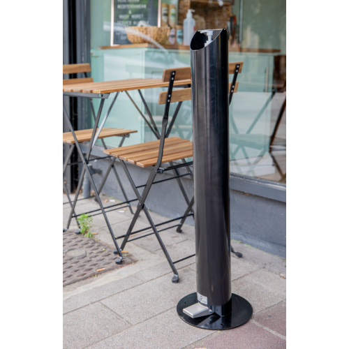 Adults Floor Standing Pedal Sanitiser Stand - Black