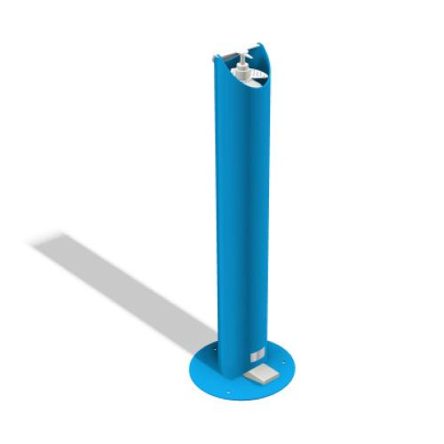 Kids Floor Standing Pedal Sanitiser Stand - Blue