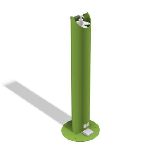 Kids Floor Standing Pedal Sanitiser Stand - Green