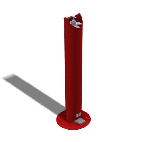 Kids Floor Standing Pedal Sanitiser Stand - Red