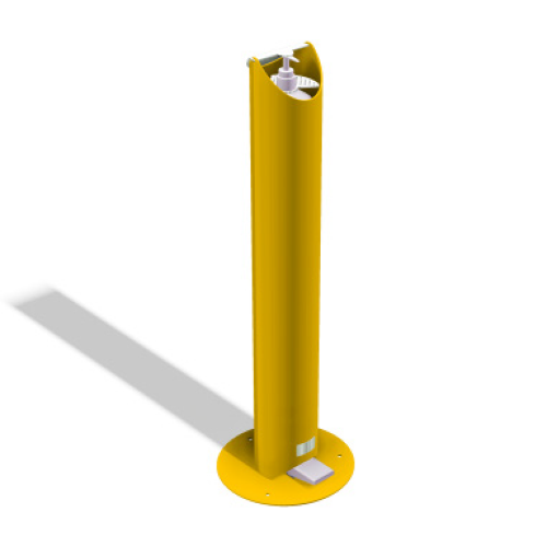 Kids Floor Standing Pedal Sanitiser Stand - Yellow