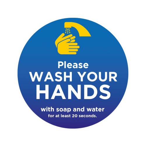 WASH YOUR HANDS GRAPHICS - Pack of 10 - IN STOCK