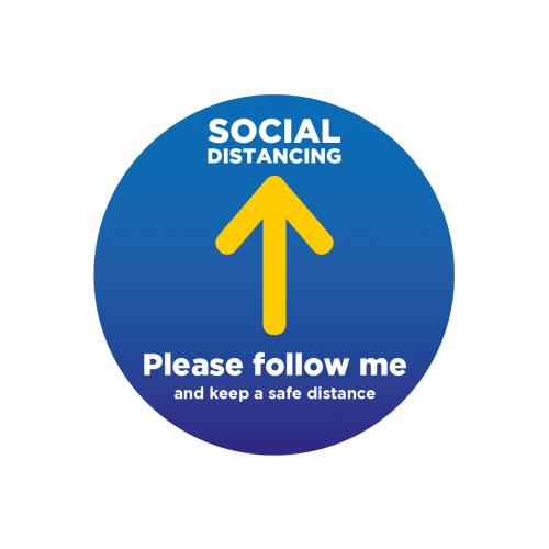 Please follow me Floor Stickers