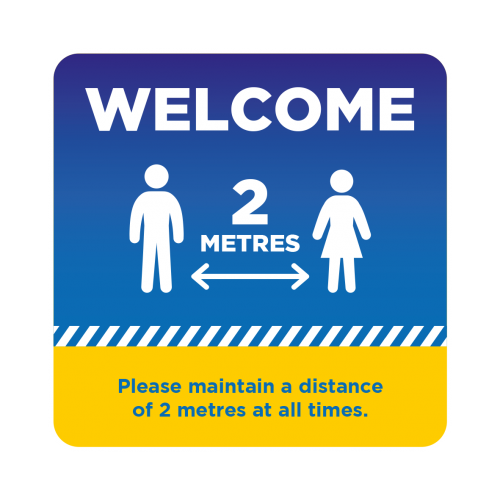 Welcome Floor Sticker