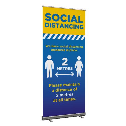 Social Distancing Maintain 2 metres - Roller Banner