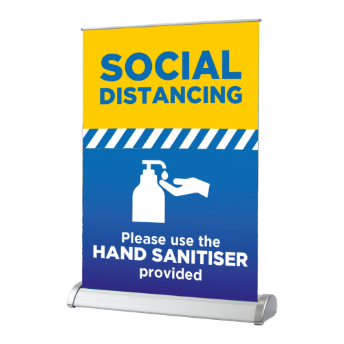 Please use sanitiser - Desktop Roller Banner