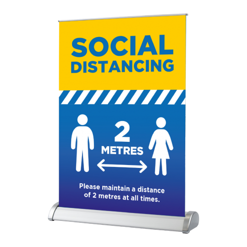 Maintain Social Distance - Desktop Roller Banner