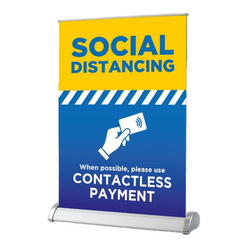 Use Contactless Payment - Desktop Roller Banner