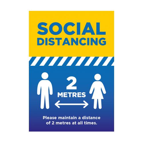 Social Distancing 2 Metres - A2 Poster