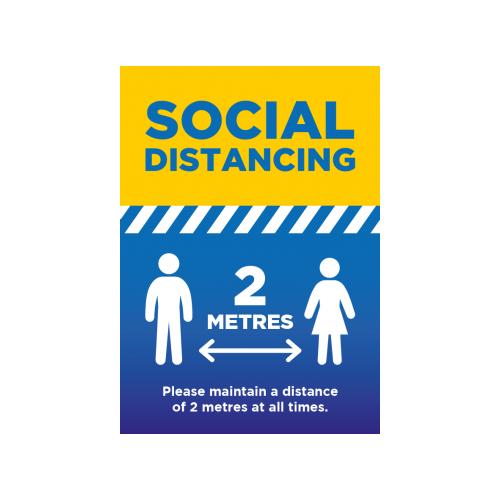 Social Distancing 2 Metres - A3 Poster