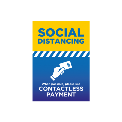 Use Contactless Payment - A3 Poster - EACH