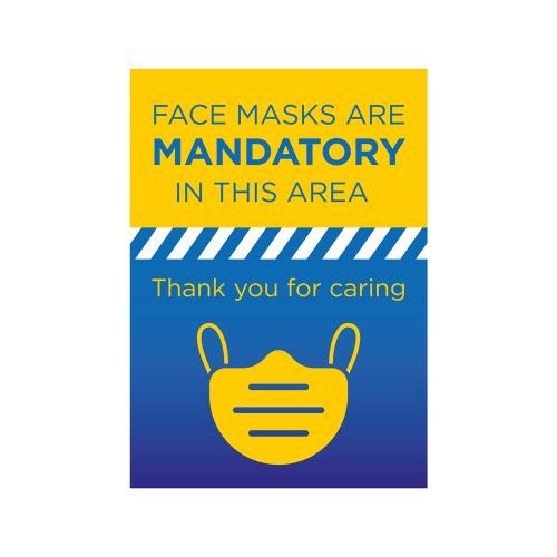Mandatory Face Mask Poster A2 per 10