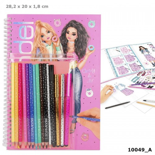 TOPModel Colouring Book With Pen Set