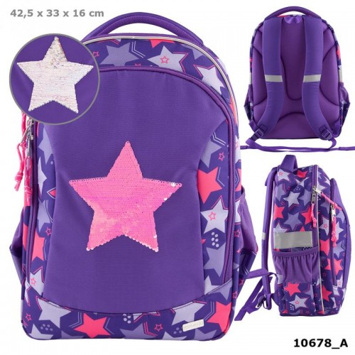 TOPModel School Backpack, Rev.Sequins Star STARS