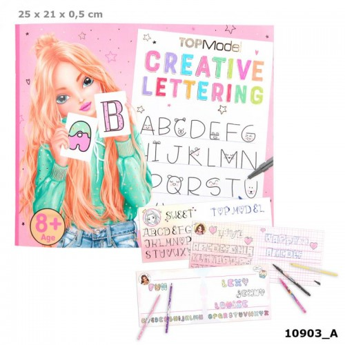 TOPModel Creative Lettering Colouring Book