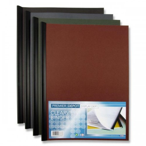 PREMIER DEPOT A4 CLEARVIEW PRESENTATION BINDER 4 ASST.