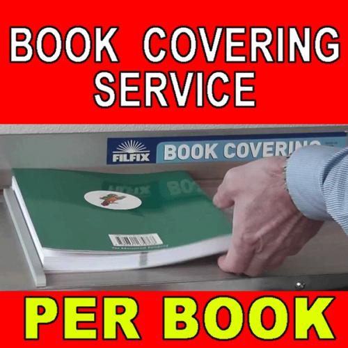BOOK COVERING SERVICE     PER BOOK  