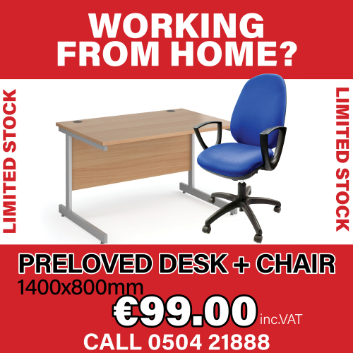 Second Hand -1400x800 Desk + Chair - Perfect Condition