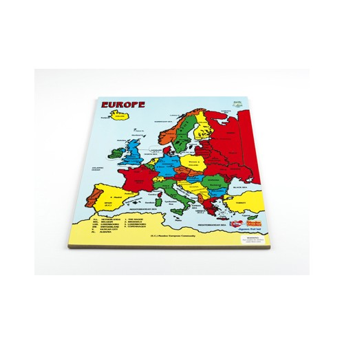 Europe Map Wooden Puzzle