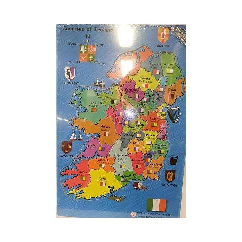Ireland Map Wooden Puzzle