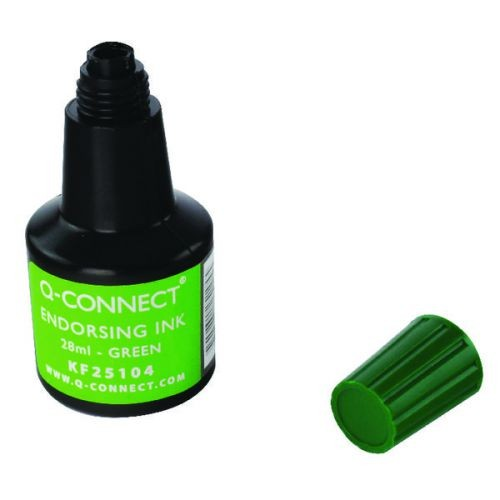 Q CONNECT ENDORSING INK GREEN