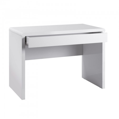 Luxor home office workstation with integrated full length drawer - white gloss