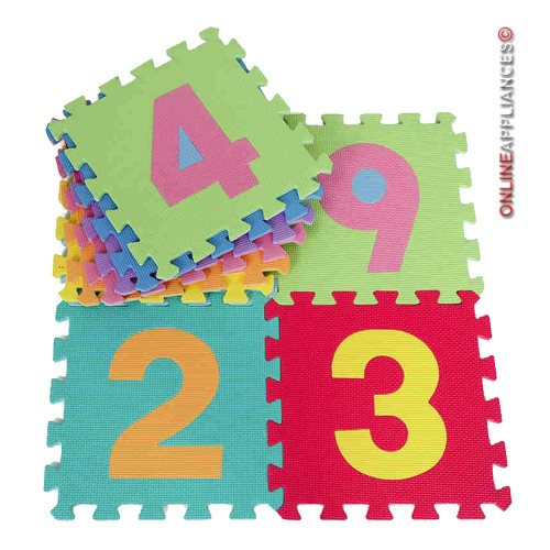10 PIECES 0-9 NUMBER PUZZLE PLAY MAT IN BAG SOFT FOAM