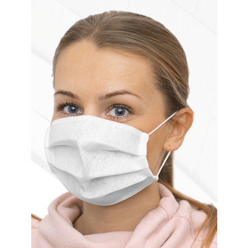 Reusable - EASY TO BREATHE - Antibacterial Protective Face Mask - 115 GSM Single Ply