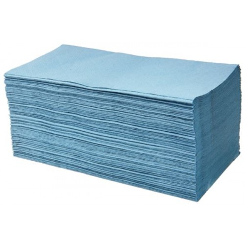 1ply Blue Interfold Hand Towel - 5,000 Pack