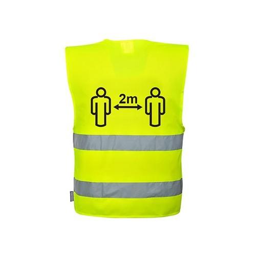 Hi-Vis Social Distancing  Vest Yellow - L/XL