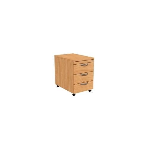 Clearance Sale - Mobile Pedestal, 3 Drawer, Beech