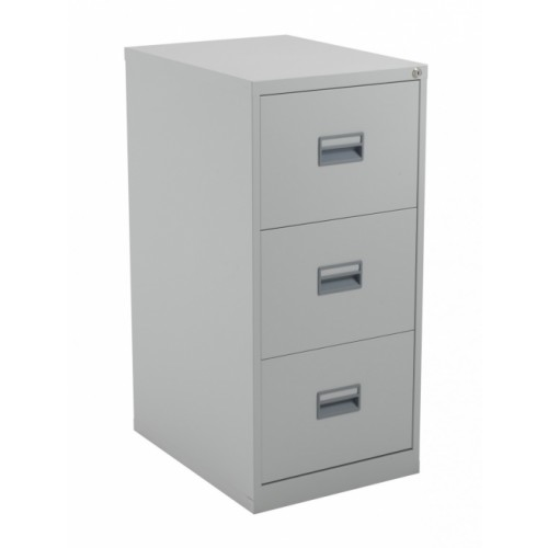 3 Drawer Steel Filing Cabinet - Grey