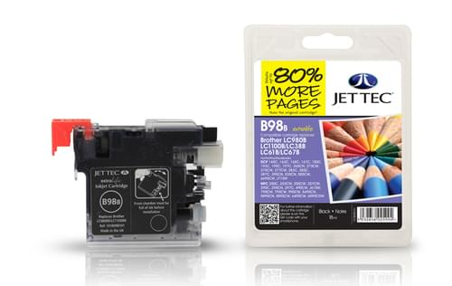 Jettec Compatibile Brother LC980/1100 Black Inkjet Cartridge (B98B)