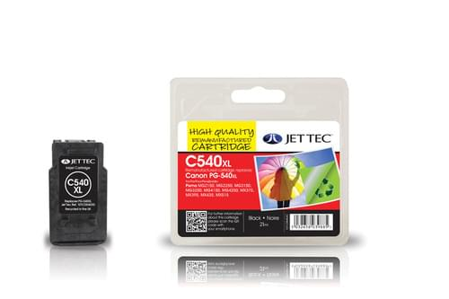 Jettec Remanufactured Canon PG540XL Inkjet Cartridge (C540BXL)