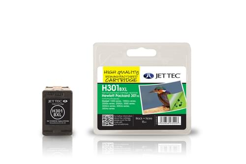 Jettec Remanufactured HP301BXL Black Inkjet Cartridge (H301BXL)