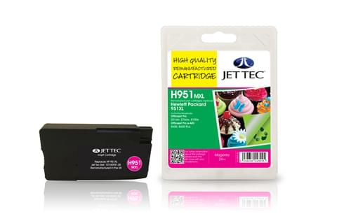 Jettec Remanufactured HP950XL Magenta Inkjet Cartridge (H951MXL)
