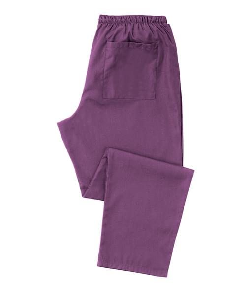 Scrub Trousers Full Elastic Amethyst - D398AY-XLR