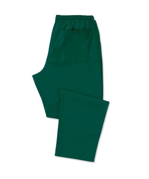 Scrub Trousers Full Elastic Bottle Green - D398BO-XSR